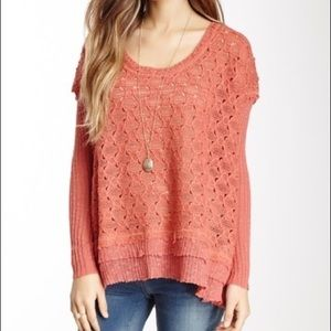 NWT Free People Boxy Textured Pullover, XS